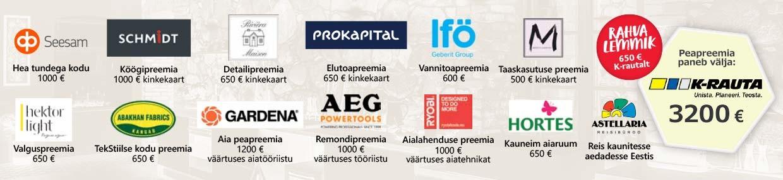 Aasta Kodu 2018 sponsorid